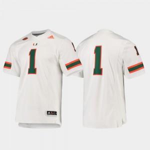 White #1 Premier Stitch For Men Football Miami Jersey 114054-276
