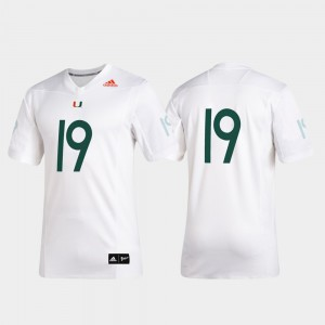 Miami Jersey #19 Stitched 2019 Special Game Premier Football For Men's White 496255-854