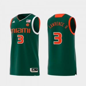 UM Anthony Lawrence II Jersey #3 Mens Replica Swingman College Basketball Player Green 770681-602