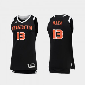 Miami Anthony Mack Jersey Player Mens Chase Black White College Basketball #13 653779-531