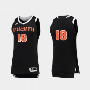 #18 Embroidery Miami Jersey College Basketball Chase Black White Mens 738208-964