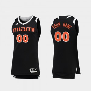 University of Miami Customized Jerseys #00 For Men Official Black White Chase College Basketball 511294-965