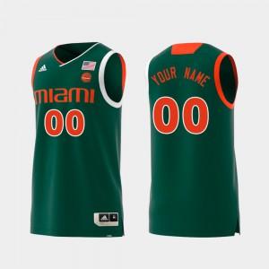 Swingman College Basketball Green #00 NCAA University of Miami Customized Jerseys Men's Replica 733651-765
