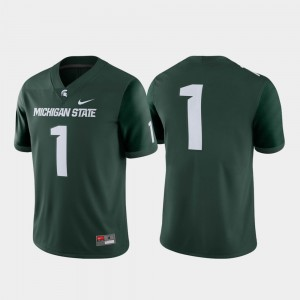 College Football Men #1 University Green Spartans Jersey Game 496680-753