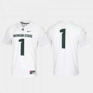 Mens Stitched Untouchable White #1 Game Michigan State Spartans Jersey 229085-232