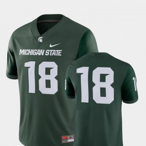 Michigan State Jersey Player For Men's #18 College Football 2018 Game Green 931951-990