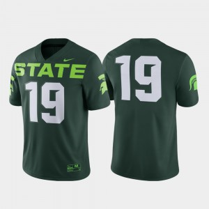 #19 Green Alternate Michigan State University Jersey For Men's Game Embroidery 174783-247