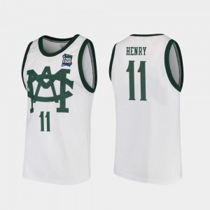 2019 Final-Four Vault MAC Replica For Men's White Spartans Aaron Henry Jersey #11 Stitched 282813-692