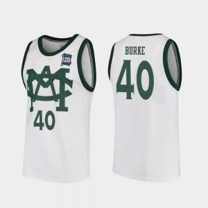 #40 Spartans Braden Burke Jersey 2019 Final-Four White Men's Vault MAC Replica High School 497051-184