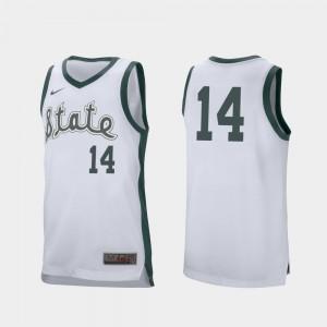 White College Basketball Men's Retro Performance Stitched Spartans Brock Washington Jersey #14 174679-957