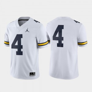 White High School Michigan Jersey Game #4 College Football For Men's 283182-289