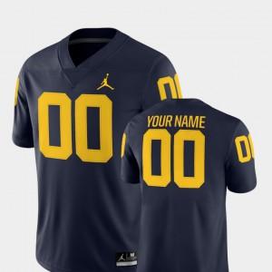 #00 Michigan Customized Jerseys 2018 Game College Football NCAA Navy Men's 153294-613