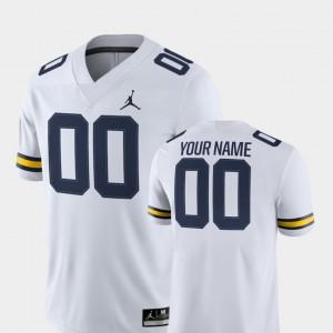 College College Football White Michigan Custom Jerseys #00 2018 Game Men 540355-189