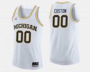 College For Men's College Basketball White #00 U of M Custom Jerseys 205344-336