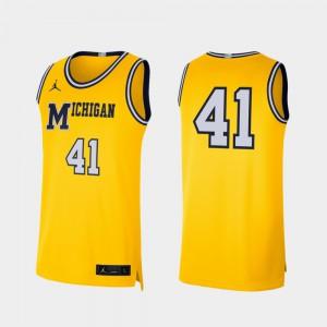 Maize #41 College U of M Jersey College Basketball Men Retro Limited 195474-358