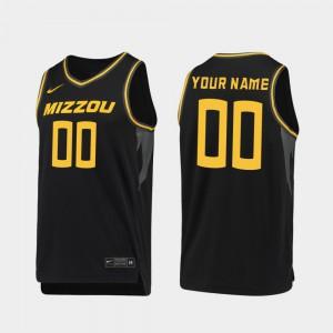 Black Replica Alumni Missouri Customized Jerseys #00 2019-20 College Basketball Men 983903-413