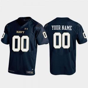 For Men Official Replica #00 Football Navy Navy Midshipmen Custom Jersey 832863-976