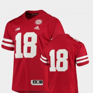 College Football For Men's Nebraska Cornhuskers Jersey Premier NCAA Scarlet #18 222224-743