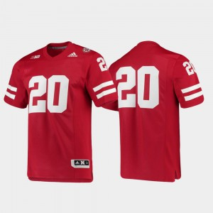 Premier Scarlet #20 Football Nebraska Cornhuskers Jersey University Men's 461085-688