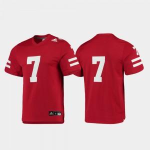 College Football Replica Mens #7 Player Scarlet Nebraska Cornhuskers Jersey 872375-986