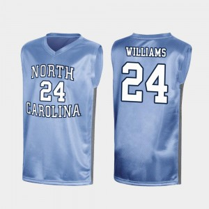 University of North Carolina Kenny Williams Jersey For Men's #24 Stitched Royal March Madness Special College Basketball 257621-672