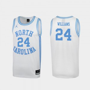 UNC Kenny Williams Jersey Special College Basketball Men March Madness Stitched White #24 721544-996