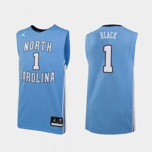 North Carolina Tar Heels Leaky Black Jersey Embroidery Replica Carolina Blue #1 College Basketball Men 988802-330
