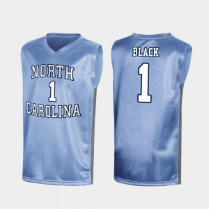 Special College Basketball March Madness Royal University of North Carolina Leaky Black Jersey University #1 For Men 125532-301