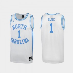 North Carolina Leaky Black Jersey White University #1 Special College Basketball For Men March Madness 447377-587