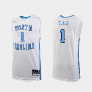 College Basketball Replica For Men University of North Carolina Leaky Black Jersey #1 White Player 589524-910
