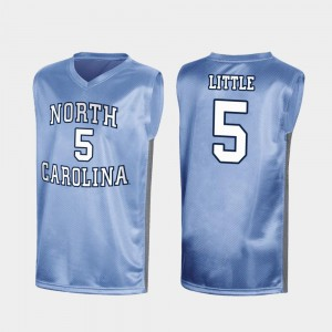 March Madness For Men's Player North Carolina Nassir Little Jersey #5 Special College Basketball Royal 335602-213