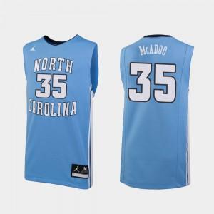 Men's UNC Tar Heels Ryan McAdoo Jersey #35 Replica Carolina Blue College Basketball College 555216-271