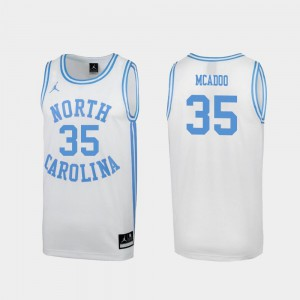 White Mens #35 North Carolina Tar Heels Ryan McAdoo Jersey College March Madness Special College Basketball 413661-782
