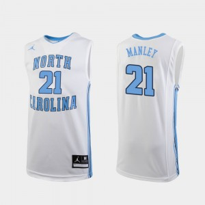 College Basketball White Men Replica Alumni #21 North Carolina Tar Heels Sterling Manley Jersey 356299-420