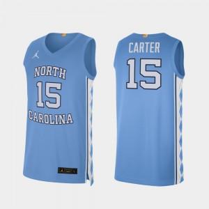 #15 Carolina Blue North Carolina Tar Heels Vince Carter Jersey College Basketball NCAA Alumni Limited For Men's 190676-884