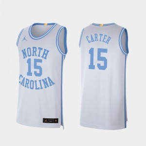College Basketball White Men UNC Tar Heels Vince Carter Jersey #15 Retro Limited University 860008-912