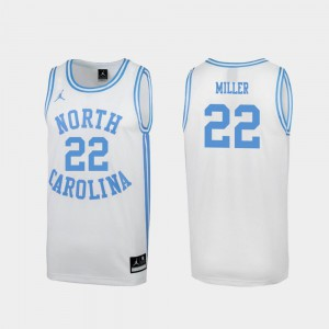 For Men's UNC Tar Heels Walker Miller Jersey Embroidery Special College Basketball White #22 March Madness 674461-375