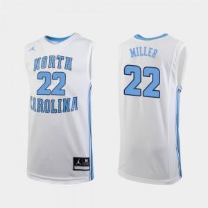 Replica NCAA #22 Tar Heels Walker Miller Jersey White Mens College Basketball 426383-669