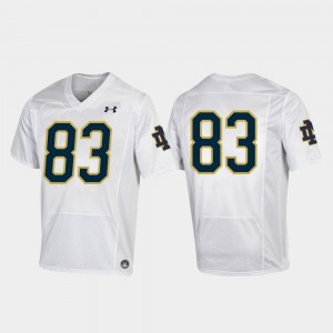 Notre Dame Jersey #83 Football White For Men Replica Embroidery 185785-582