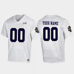 Replica Football UND Customized Jersey University White For Men's #00 786408-437