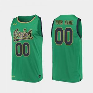 Men Replica ND Customized Jersey Kelly Green #00 2019-20 College Basketball University 176066-606