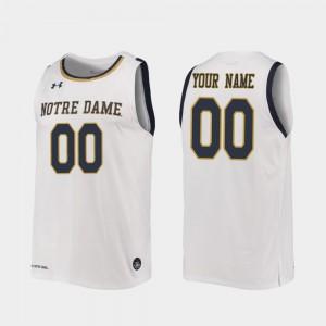 Notre Dame Fighting Irish Customized Jersey 2019-20 College Basketball College White #00 Mens Replica 754660-170