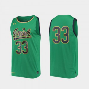 Stitched Men's College Basketball #33 Replica Irish Jersey Kelly Green 884922-799