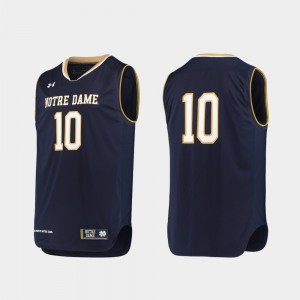 NCAA College Basketball Navy University of Notre Dame Jersey #10 Authentic Men's 701441-475