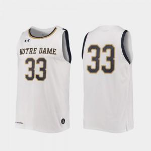 #33 Notre Dame Jersey College Basketball High School White Replica Men's 691836-918