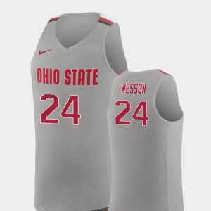 Pure Gray Stitched Replica College Basketball #24 Men OSU Andre Wesson Jersey 744298-466