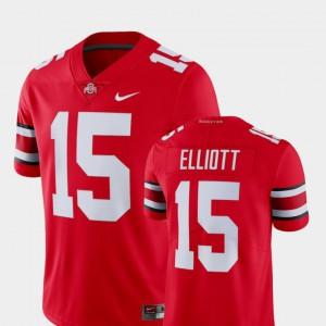 Mens Alumni College Limited Football Ohio State Buckeyes Ezekiel Elliott Jersey #15 Scarlet Player 434041-818