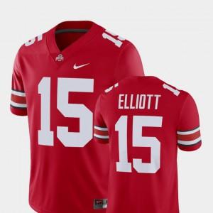 Ohio State Ezekiel Elliott Jersey Player For Men #15 Alumni Football Game High School Scarlet 632176-831