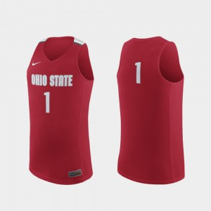 For Men's Scarlet Replica College Basketball College #1 OSU Jersey 450102-206