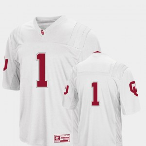 Colosseum For Men's #1 College Football Stitch Sooners Jersey White 625851-891